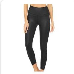 Alo 7/8 length high waist glossy airbrush legging